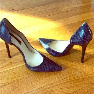 Sexy Zara blue snake shoes